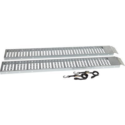 Ironton Non-Folding Steel Ramps - Pair, 6ft.L x...