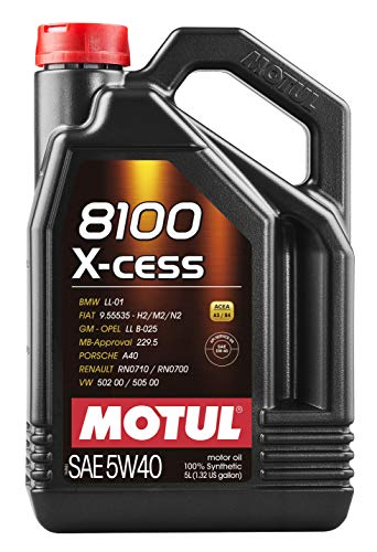 Motul 007250 8100 X-cess 5W-40 Synthetic Gasoline...
