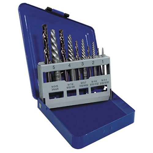 IRWIN Screw Extractor/ Drill Bit Set, 10-Piece...