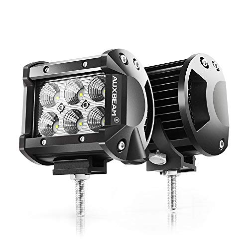 Auxbeam 4' LED Pods 18W Flood LED Light Bar 1800lm...