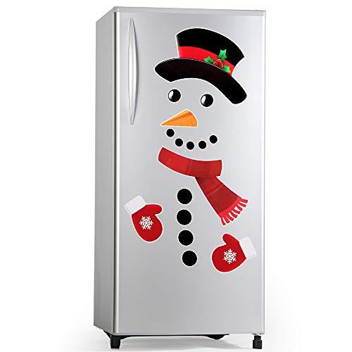 D-FantiX Snowman Refrigerator Magnets Set of 16,...