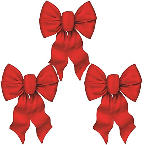 Rocky Mountain Goods Large Wired Red Bow - 12'...