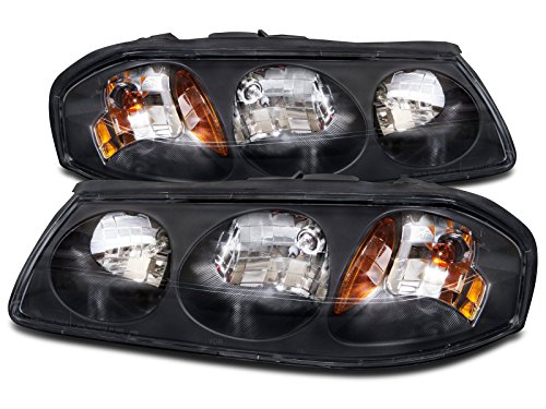 HEADLIGHTSDEPOT Black Housing Halogen Headlights...