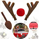 Ankuka Car Reindeer Antlers & Nose Decorations,...