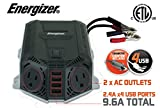 ENERGIZER 500 Watt Power Inverter 12V DC to AC + 4...