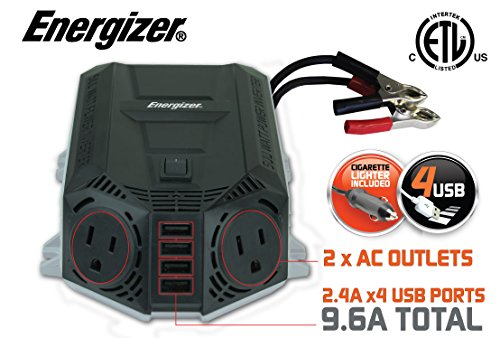 ENERGIZER 500 Watt Power Inverter 12V DC to AC + 4...