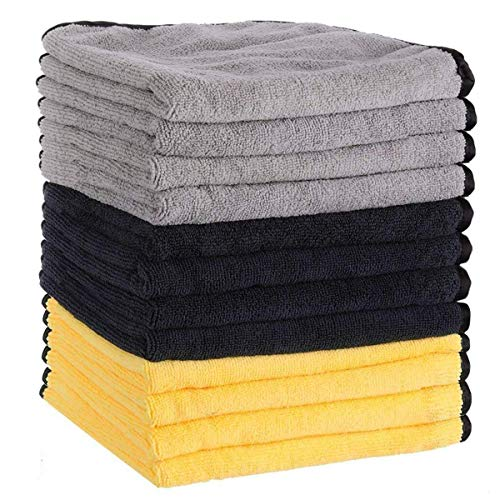 MATCC Microfiber Cleaning Cloths 12 Pack 16'' x...