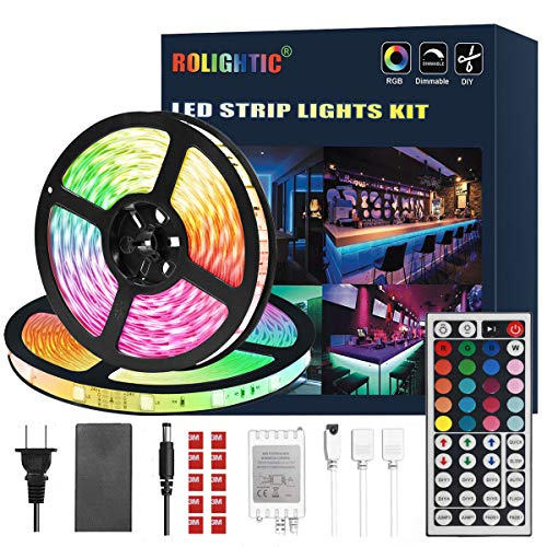 ROLiGHTiC RGB Led Light Strip Kit,32.8ft (10M)...