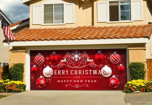 Outdoor Christmas Holiday Garage Door Banner Cover...