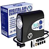 PI Auto Air Compressor - Portable, 12V, Digital...