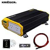 Krieger 1500 Watts Power Inverter 12V to 110V,...