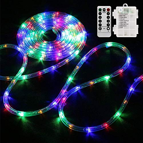 Bebrant LED Rope Lights Battery Operated String...