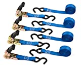 Premium Ratchet Tie Down - 4 Pk - 15 Ft - 500 Lbs...