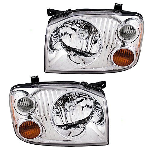 Headlights with Chrome Bezel Driver and Passenger...