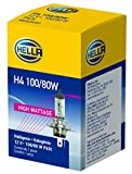 HELLA H4 100/80W High Wattage Bulb, 12V