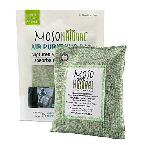 MOSO NATURAL Air Purifying Bag. Odor Eliminator,...