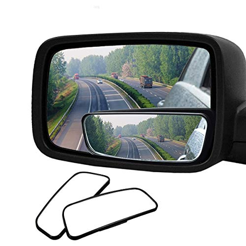 Audew 2 Pack Square Blind Spot Mirror 360° ABS...