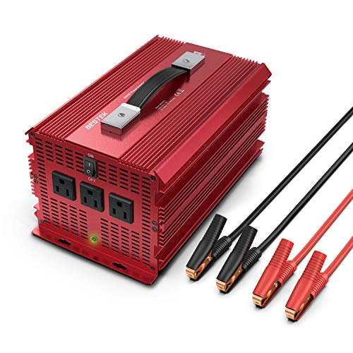 BESTEK 2000W Power Inverter 3 AC Outlets DC 12V to...