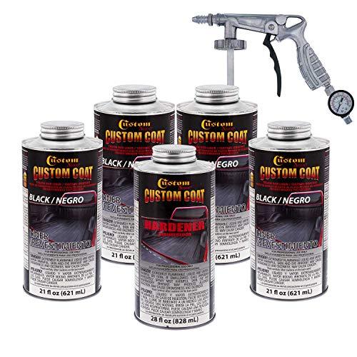 Custom Coat Black 0.875 Gallon Urethane Spray-On...