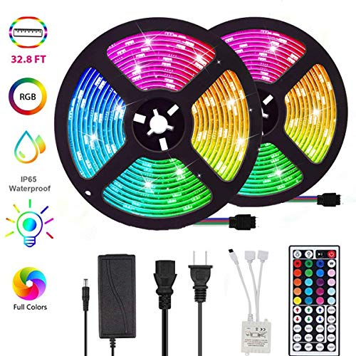ROLiGHTiC RGB Led Light Strip Kit,32.8ft (10M)...