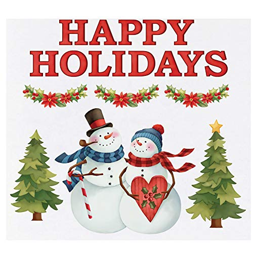 Collections Etc Snow Couple Holiday Greetings...