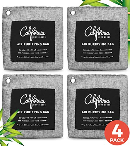 Bamboo Charcoal Air Purifying Bag (4-Pack) 200g...