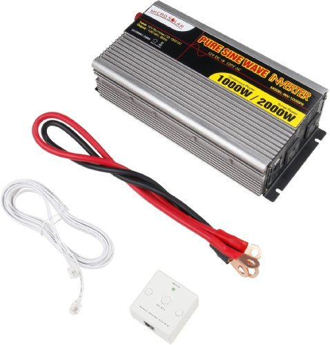 MicroSolar 12V 1000W (Peak 2000W) Pure Sine Wave...