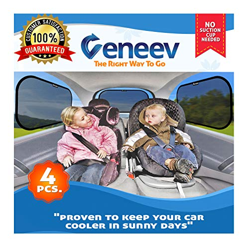 Car Sun Shade for Side and Rear Window (4 Pack) -...