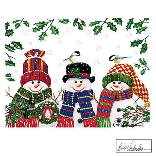 Festive Snowman Trio Garage Door Magnets - Holiday...
