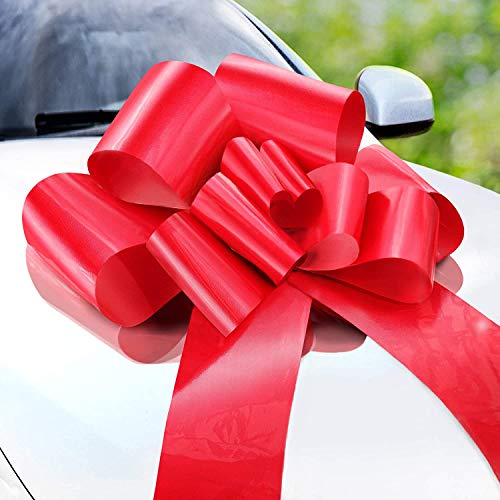 Zoe Deco Big Car Bow (Red, 23 inch), Gift Bows,...