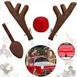 Ankuka Car Reindeer Antlers & Nose Decorations,...