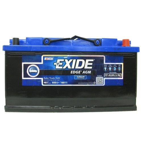 Exide Edge FP-AGML5/49 Flat Plate AGM Sealed...