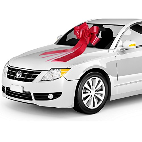 Zoe Deco Big Car Bow (Red, 23 inch, 1 Pack), Gift...