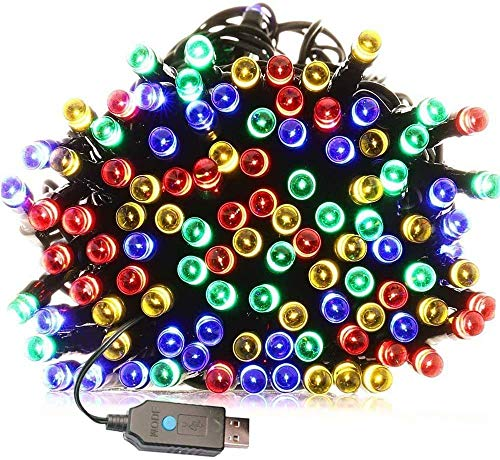 Indoor/Outdoor String Lights with 8 Flash Changing...