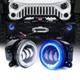 Xprite 4 Inch 60W CREE LED Fog Lights with White...