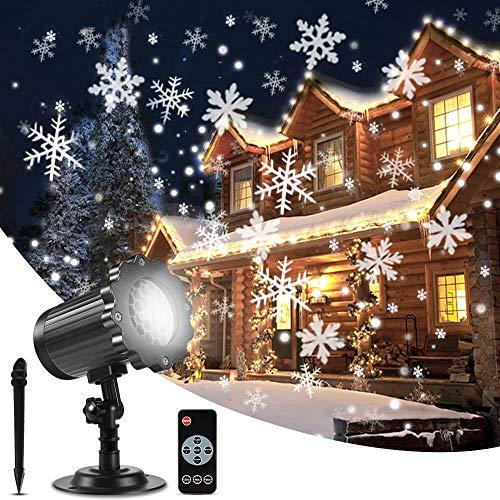 ALOVECO Christmas Snowflake Projector Lights,...