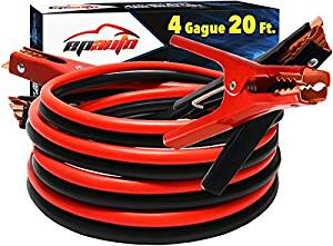 EPAuto 4 Gauge Heavy Duty Booster Jumper Cables-5be9fbdb89177