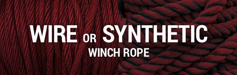 best winch rope wire synthetic