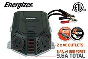 Energizer 39.97 Deal ends 5-30-17 ENERGIZER 500 Watt Power Inverter +48W USB 12V DC to AC + 4 x 2.4A USB charging ports Total 9.6A-5be9fb0c9a5fc