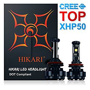 HIKARI LED Headlight Bulbs Conversion Kit -H11 (H8, H9), CREE XHP50 9600lm 6K Cool White-5beac15a64500