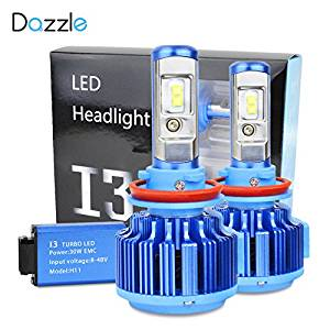 Innovated Dazzle LED Headlight Bulbs Conversion Kit - H11 (H8, H9) - 7,200Lm 60W 6000K Cool White CREE-5beac15b0f558