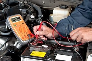 checking car amg battery voltage