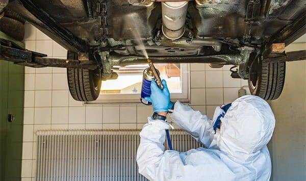 how to prevent rust under car