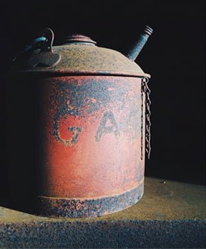 old gasoline disposa