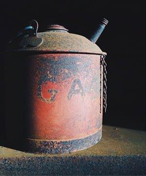 old gasoline disposa