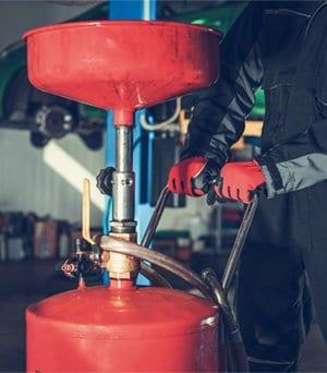 too much oil in a car pump method